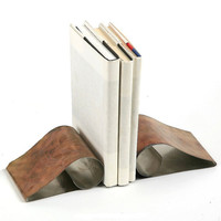 Stainless Steel Curl Book Ends -Eco friendly decorations for your home or office.