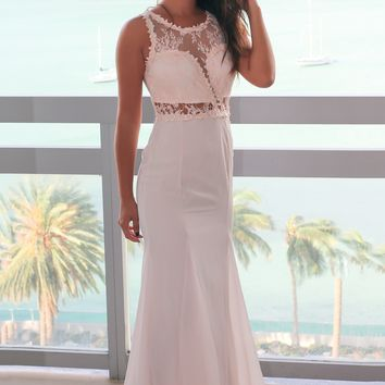Ash Rose Maxi Dress with Lace Top