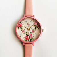 2016 Freeforme Pretty in Pink Watch Women Watches Leather Watch Vintage Style Ladies Jewelry Accessories Spring Fashion Unique Gifts Cute