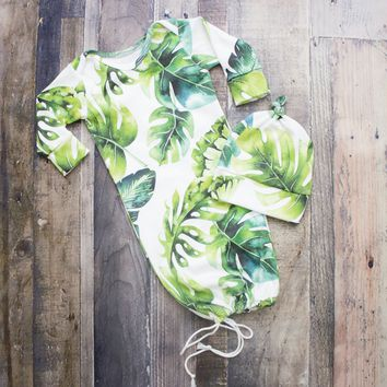 Banana Leaf Newborn Going Home Outfit