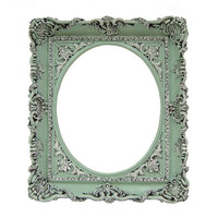 Shabby Chic Frame Pastel Mint Green Picture Frame 8x10 Wedding Frame Home Decor