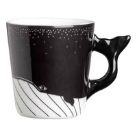 Small porcelain mug - White/Black - Home All | H&M GB