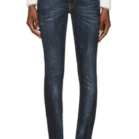 Nudie Jeans Blue Organic Tight Long John Jeans
