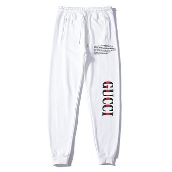 GUCCI Print Woman Men Fashion Sweatpants Pants Trousers