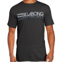 Billabong Men's Lockup Crew Sleeve T-Shirt, Black, X-Large