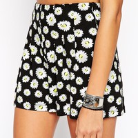 ASOS TALL High Waist Culotte Shorts in Daisy Print