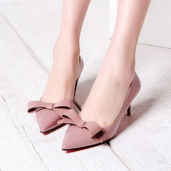 High Heel Pointed Toe Butterfly Stylish Summer Shoes [4919872580]