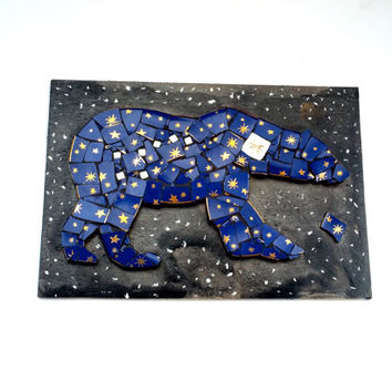 Ursa Major Mosaic Artwork. Great Bear Constellation Mixed Media Art. Astronomy Gift. Galaxy Wall Hanging. Big Dipper Stars Home Decor.