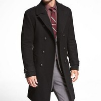 DOUBLE BREASTED MILITARY TOPCOAT at Express