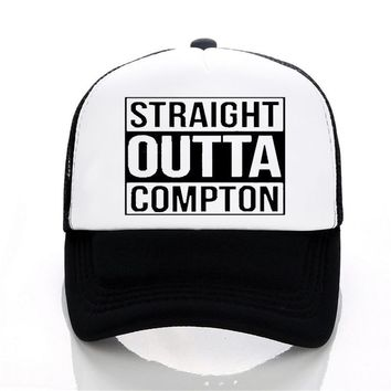 Trendy Winter Jacket Men and Women Letter Straight Outta Compton Baseball cap Europe and The United States Style rock hat Summer leisure Mesh cap AT_92_12