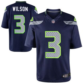 Youth Seattle Seahawks Russell Wilson Nike College Navy Limited Jersey