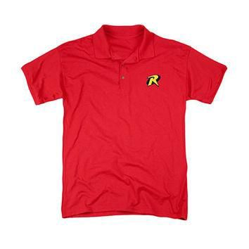 Batman Robin Stitched Logo Polo Shirt