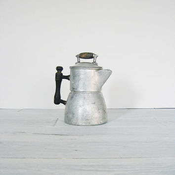 Vintage Aluminum Wear Ever Rustic Coffee Pot Primitive Percolator
