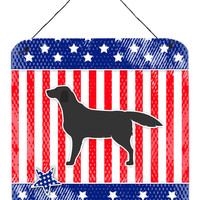 USA Patriotic Black Labrador Retriever Wall or Door Hanging Prints BB3308DS66