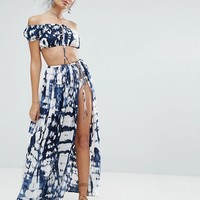 ASOS Beach Co-ord in Tie Dye at asos.com