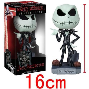 The Nightmare Before Christmas Halloween Town Pumpkin King Jack Wacky Wobbler Bobble Head Action Figure Collection Toy