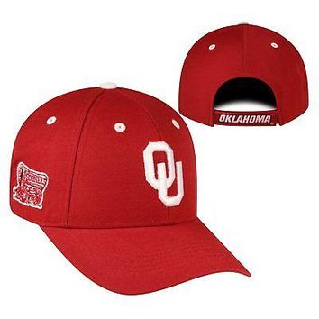 Licensed Oklahoma Sooners Official NCAA Adjustable Triple Threat Hat Cap Top of the World KO_19_1