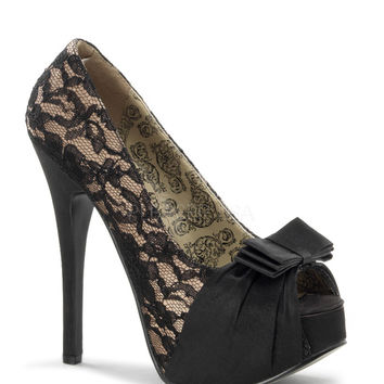 Bordello Teeze Lace Platforms