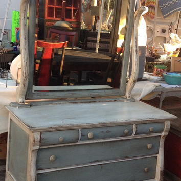 1950 SHABBY CHIC dresser with a mirror
