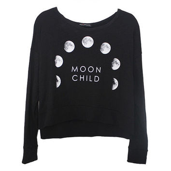 Moon Child Long Sleeve Shirt | Frankie Phoenix