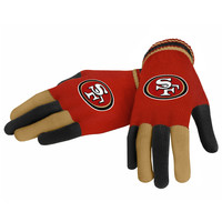 San Francisco 49ers Forever Collectibles Multi Colored Knit Gloves Ladies One Size