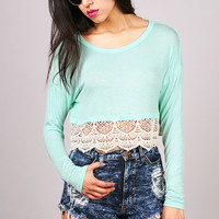 Crochet Shift Crop Top | Cute Tops at Pink Ice