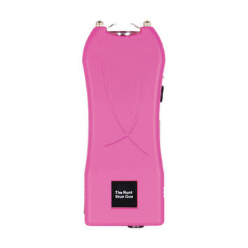 Pink RUNT 20 Million Volt Stun Gun w/ Holster Flashlight Disable Pin