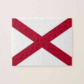 Puzzle with Flag of Alabama State