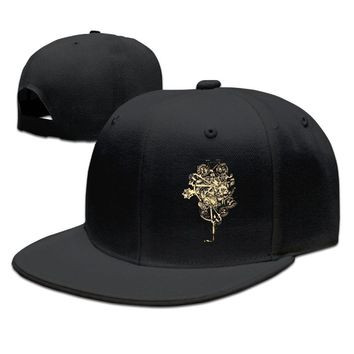 Steampunk Bicycle Printing Unisex Adult Womens Hip-hop Hats Mens Fitted Hats