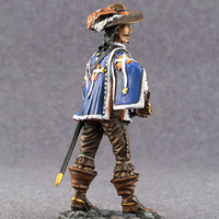 Collectible Action Figurine French Royal Musketeer 1/32 Scale Infantry Hand Painted 54mm Tin Miniature Toy Soldiers - Free Shipping