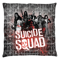 """Copy of Suicide Squad Reality TV 18"""" Throw Pillow"""