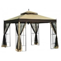 Sunjoy Big Lots Gazebo with Candle Holder Replacement Netting