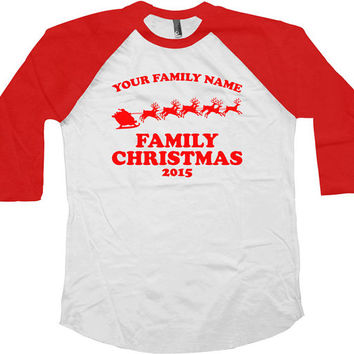 Funny Christmas Raglan Matching Family Christmas Shirts American Apparel Raglan Sleeves Baseball Raglan Christmas Presents Xmas Gifts -SA520