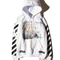Best Deal Online OFF-WHITE Fashion Sweatshirt Hooded 4006