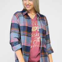 Plaid Flannel Favorite Tab Sleeve Shirt