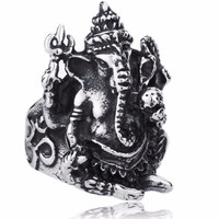Stainless steel ring Men ~ Ganesh ~ Obstacle Remover ~