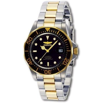 Invicta Men's 8927 Pro Diver Automatic 3 Hand Black Dial Watch