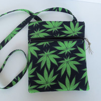Hipster Bag - Cannabis Crossbody bag - 420 Hands free hipster - Maryjane Crossbody - Indica Bag - Colorado cannabis