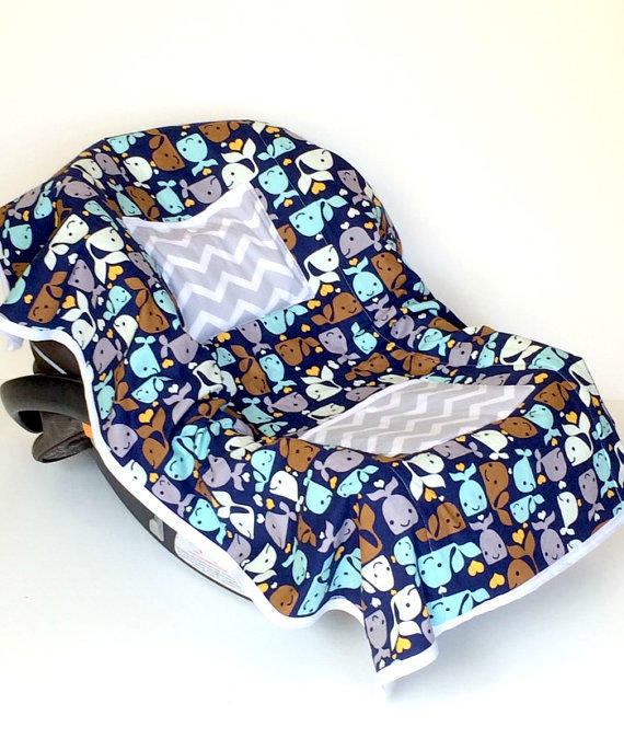car seat cooler whale for infants baby from lovelylambcreations. Black Bedroom Furniture Sets. Home Design Ideas