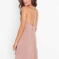 Strapped In Racerback Dress - Dusty Rose in  Clothes at Nasty Gal