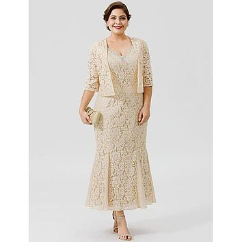 Charlotte Two Piece Lace Formal Evening Dress