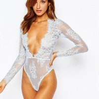 ASOS Lana Delicate Lace Plunge Body at asos.com