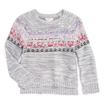 Design History Embellished Knit Sweater (Toddler Girls & Little Girls) | Nordstrom
