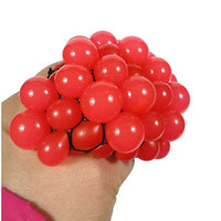 Anti Stress Face Reliever Grape Ball Autism Mood Squeeze Relief ADHD Toy 3C