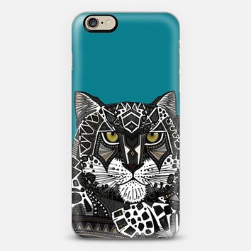 snow leopard teal blue iPhone 6s case by Sharon Turner | Casetify