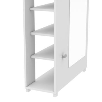 Manhattan Comfort Valencia 1.0- 10- Shelf with 3 Hooks and Full Length Mirror Shoe Closet
