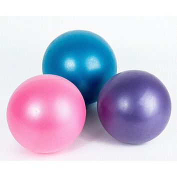 25cm,Mini Yoga Ball Physical Fitness ball for fitness Appliance Exercise balance Ball home trainer balance pods GYM YoGa Pilates