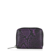 Snake-Effect Mini Purse - Purple