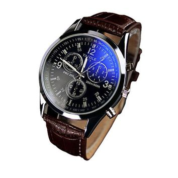 Mens Analog Quarts Watches Blue Ray