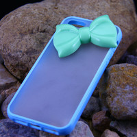 Iphone 4 4s case cover,Green bowknot luxury iphone 4 4s,transparent iphone 4 case,Pink iphone 4 4s
